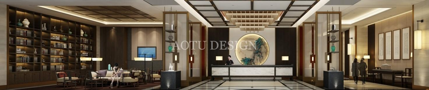 风华酒店大厅设计效果图