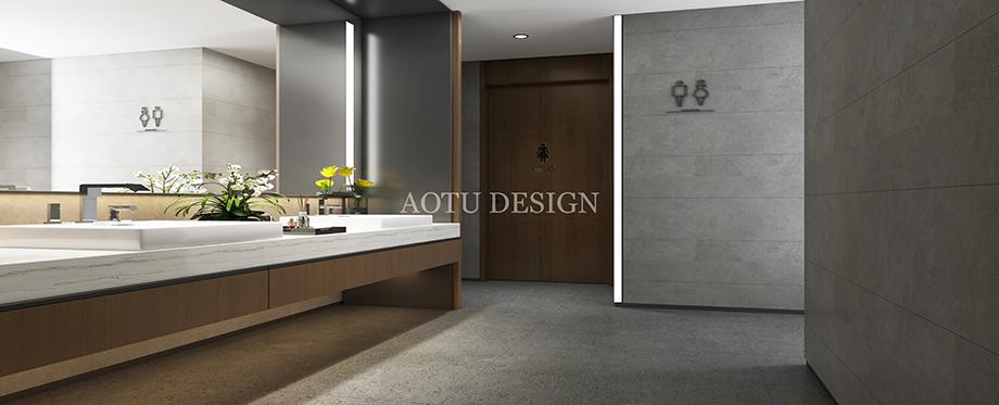卫生间设计-河南明瑞置业公司办公设计效果图