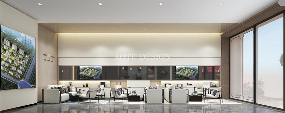 伊川城市展厅洽谈区设计效果图