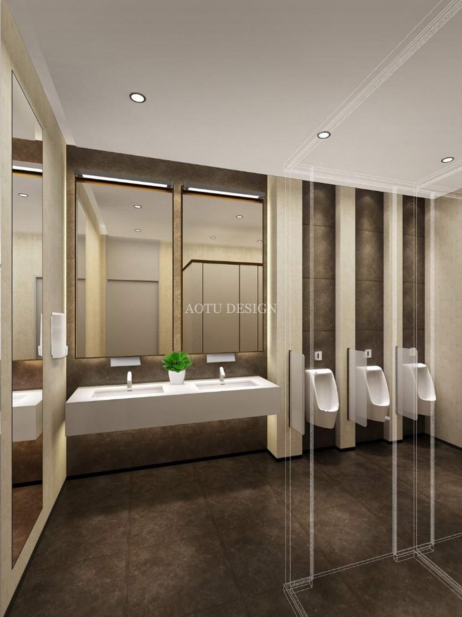 卫生间设计-上海万科中心办公楼公区设计效果图