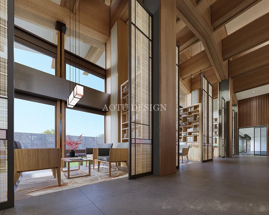 VIP洽谈区设计-沙盘展示区设计-开封佘店旅游区接待中心设计效果图-凹凸设计