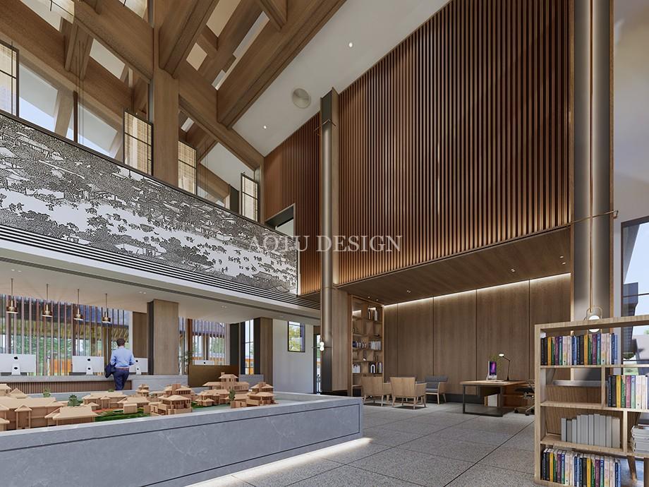 沙盘展示区设计-开封佘店旅游区接待中心设计效果图-凹凸设计